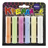 Цветные мелки для рисования (6 разных цветов), ШС06, игрушка