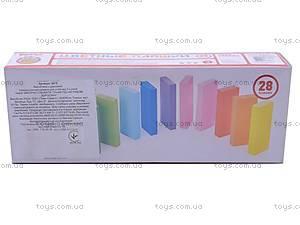 Цветные плашки, 28 деталей, 6675, цена