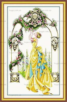 Цветочная арка, вышивка крестиком, R051