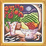 Цветы и фрукты, набор для вышивки крестиком, J049, отзывы