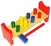 Развивающая игрушка «Гвозди», Д002, toys.com.ua