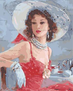 Дама в шляпке, картина по номерам, MG1070