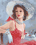 Дама в шляпке, картина по номерам, MG1070, фото