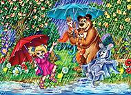 ДАНКО пазлы «Маши и Мишка под ливнем», S20-07-02