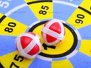 Игровой дартс на липучках с мячиками, F606, фото