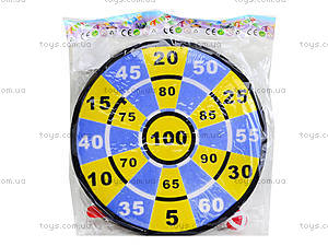 Игровой дартс на липучках с мячиками, F606