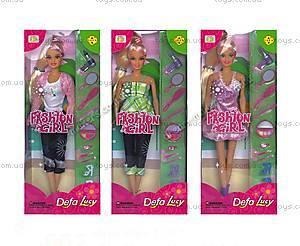 Кукла со стильными нарядами и аксессуарами, 6002
