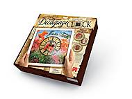 Decoupage Clock с рамкой, DKС-01-04, toys