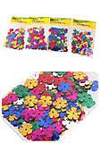 Декоративные цветы блестящие микс цветов (10 гр), 8864, детские игрушки