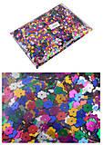 Декоративные цветы, блестящие, цветные (4шт в упаковке), 8885