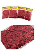 Декоративные сердечки блестящие (10гр) красные (4 шт в упак), 8868*, купить игрушку