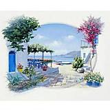 Декупаж на холсте «Краски Санторини», 94653