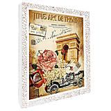 Декупаж на холсте «Ретро Париж», 94702, фото