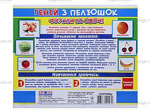 Демонстрационные карточки «Гений с пеленок. Фрукты и овощи», 13107046У, фото