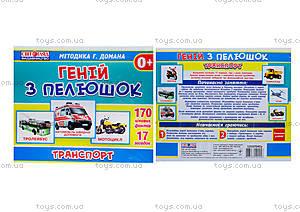 Демонстрационные карточки «Гений с пеленок. Транспорт», 13107045У