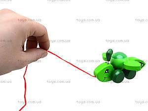 Деревянная игрушка-каталка «Пчелка», W02-4330, детские игрушки