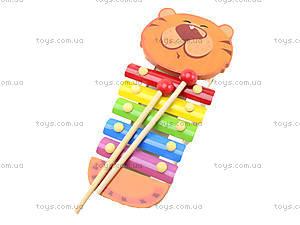 Деревянный детский ксилофон «Животные», BT-WT-0094, фото