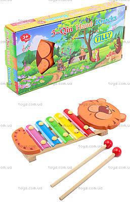 Деревянный детский ксилофон «Животные», BT-WT-0094
