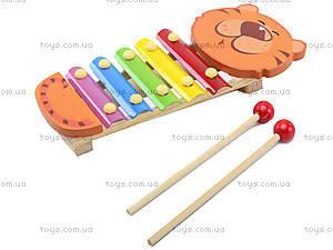 Деревянный детский ксилофон «Животные», BT-WT-0094, цена