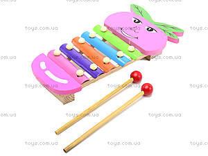Детский ксилофон «Фрукты», BT-WT-0155, цена