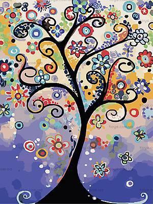 Дерево мечты, роспись картины по номерам, КНО2824