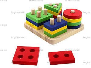 Детская деревянная пирамидка «Геометрия», BT-WT-0054, купить