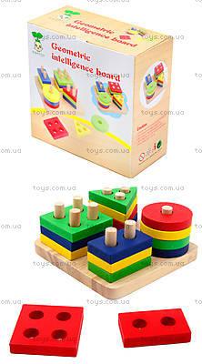 Детская деревянная пирамидка «Геометрия», BT-WT-0054