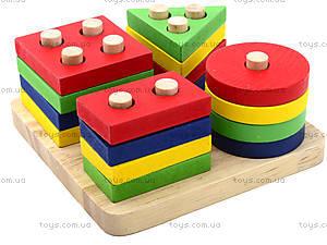 Детская деревянная пирамидка «Геометрия», BT-WT-0054, цена