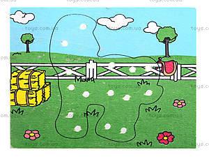 Деревянная игрушка-шнуровка «Ферма», W02-11, цена