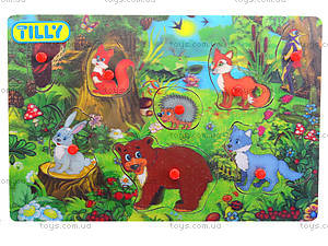 Деревянный вкладыш «Животные», BT-WT-0011, купить