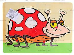 Деревянный вкладыш-пазлы «Животные», BT-WT-0125, фото