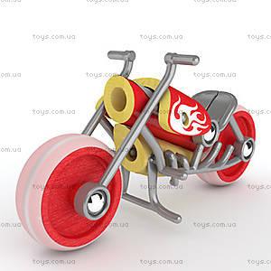 Деревянная игрушка-мотоцикл из бамбука E-Chopper, 897781