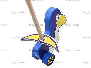 Деревянная каталка «Пингвин», 8063-10, купить