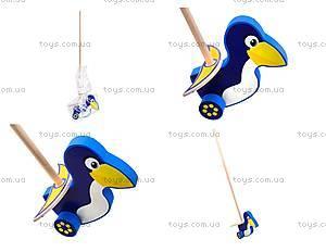 Деревянная каталка «Пингвин», 8063-10