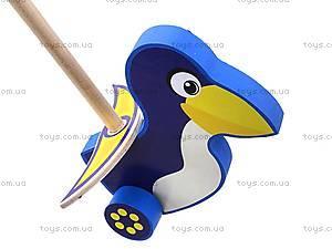 Деревянная каталка «Пингвин», 8063-10, игрушки