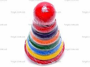 Деревянная цветная пирамидка, 2594-5, купить