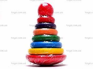 Деревянная цветная пирамидка, 2594-5, отзывы