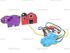 Деревянная детская игра «Шнуровка», 2594-19, магазин игрушек