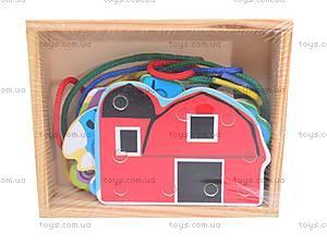 Деревянная детская игра «Шнуровка», 2594-19, игрушки