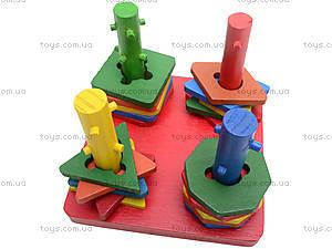 Деревянная детская пирамида «Геометрия», 2594-7, toys