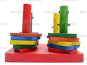 Деревянная детская пирамида «Геометрия», 2594-7, детский