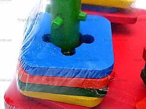 Деревянная детская пирамида «Геометрия», 2594-7, игрушки