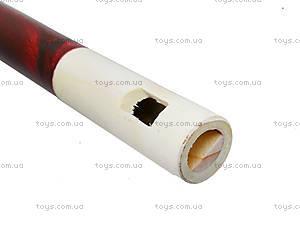 Деревянная дудочка с резьбой, 138-01-0253, фото