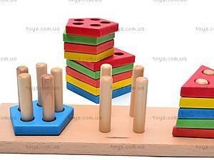 Деревянная геометрическая пирамида, W02-4444, игрушки