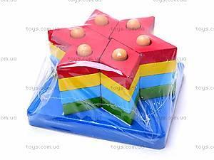 Деревянная геометрическая пирамидка, 2594-75, купить