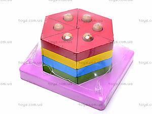 Деревянная геометрическая пирамидка, 2594-75