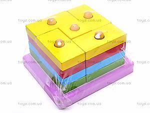 Деревянная геометрическая пирамидка, 2594-75, отзывы