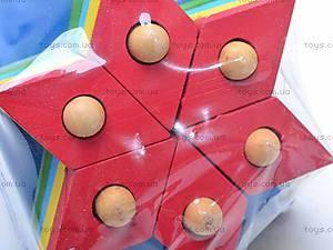 Деревянная геометрическая пирамидка, 2594-75, цена