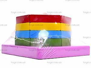 Деревянная геометрическая пирамидка, 2594-75, toys.com.ua