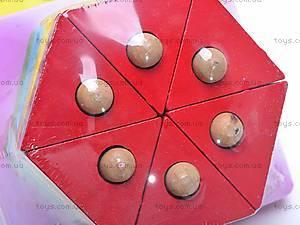 Деревянная геометрическая пирамидка, 2594-75, toys